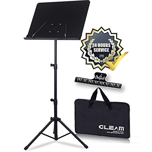GLEAM Sheet Music Stand Metal with Carrying Bag from GLEAM