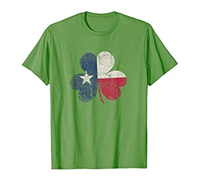 St. Patricks Day Irish Clover Texas Texan T Shirt