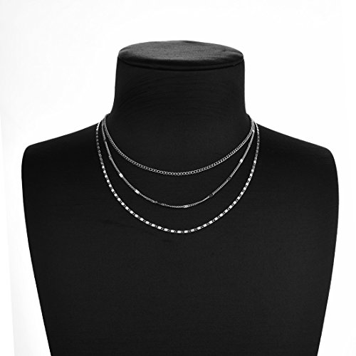 Monily Layering Lariat Coin Choker Synthetic Necklace Dainty Chain Woman Jewellery