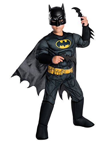 Rubie's Costume Boys DC Comics Deluxe Batman Costume, Medium, Multicolor