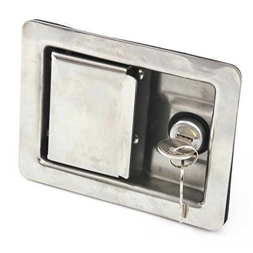 Stainless Door Lock Trailer Toolbox RV Handle Latch Large Weld Screw Paddle Key by Red Hound Auto