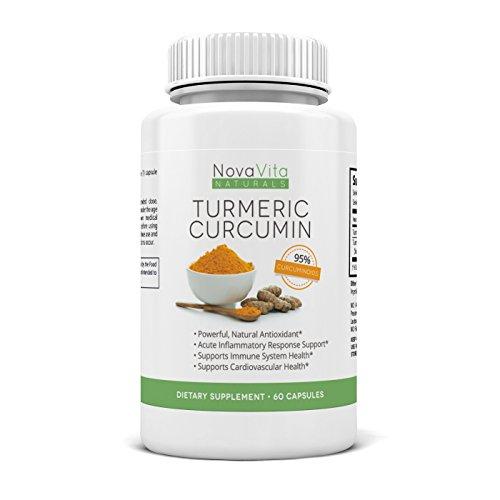 La curcumine curcuma - Tous naturel 1000mg / 2 Capsules - des antioxydants naturels - Extrait Pur 95% Curcuminoïdes - Amélioration conjointe soulagement de la douleur, Digestion, anti-inflammatoire puissant et Sinus Support | Made USA | Satisfaction garan