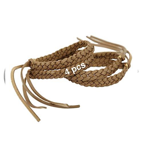 Original Kinven Mosquito Insect Repellent Bracelet Waterproof Natural DEET FREE Insect Repellent Bands, Anti Mosquito Killer Protection Outdoor & Indoor, Adults & Kids, 4 bracelets, in Brown