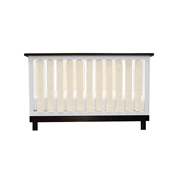 Pure Safety Vertical Crib Liners in Luxurious Cream Minky 38 Pack