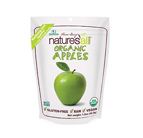 Natierra Nature's All Foods Organic Freeze-Dried Apples, 1.5 Ounce - Freeze Dried Recipes