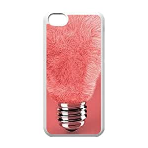 YNACASE(TM) Cute Light bulb Customized Cell Phone Case for iPhone 5C,Customized Cover Case with Cute Light bulb