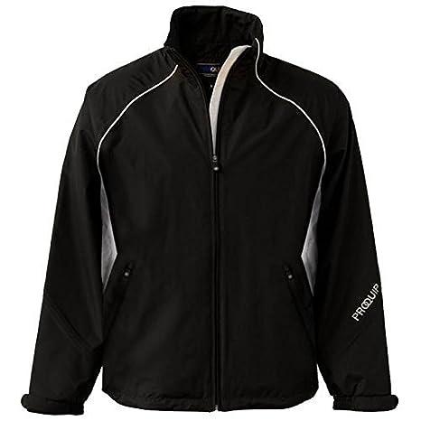 Hombres Proquip Ultralite Europa cremallera completa chaqueta impermeable, chaqueta, hombre, color Varios colores - negro/blanco, tamaño small: Amazon.es: ...