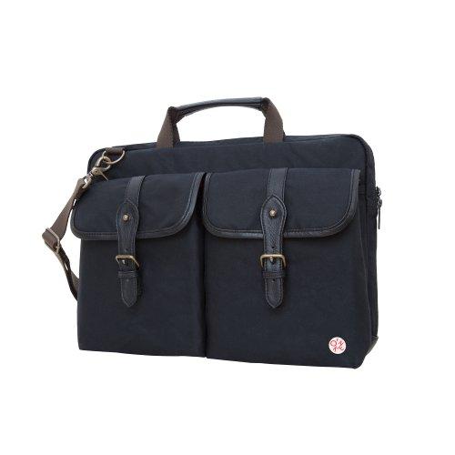 Token Bags Waxed Knickerbocker Laptop Bag 15 Inch, Black, One Size by Token Bags