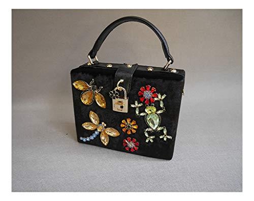 Bead Shoulder Bag Handbag Nail Bag Fashion Juzhijia Box Frog Black qZwxBYH