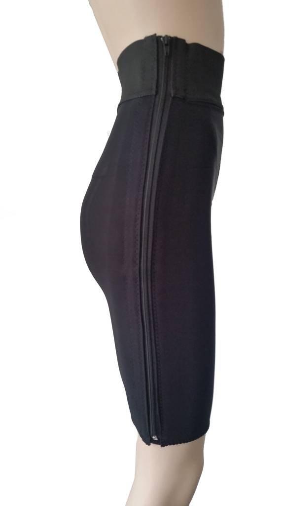 Compression Garment, Above the Knee (XXL Black) (Hip Meas. 51''-55'') Post Surgery