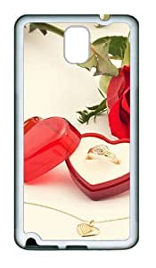Samsung Galaxy Note 3 N9000 Case and Cover -Valentines Diamond Ring TPU Silicone Rubber Case Cover for Samsung Galaxy Note 3 N9000¨C White