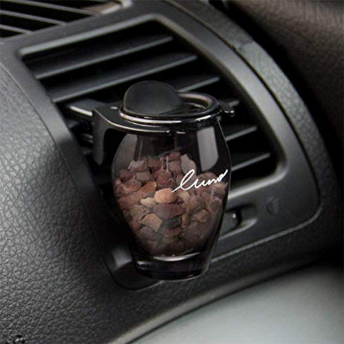 (Sizet Car Tuning Air Vent Perfume Solid Fragrance Vase Sweet Fragrance Zeolite Stone Perfume No Alcohol Car Perfume Fragrances Ornaments (Black Currant))