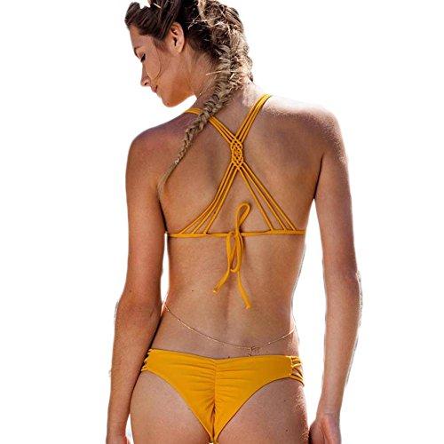 Reine handgewebte sexy Badeanzug / Bikini Badebekleidung , rope , m