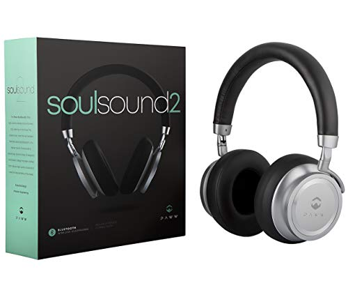 - Paww SoulSound 2 Headphones - Over Ear Bluetooth 4.1 Wireless Headphones - Bass Boost Button - 17 Hours Playtime - Foldable - Modern Fashion & Sound Quality Combined - for Enthusiasts & Audiophiles