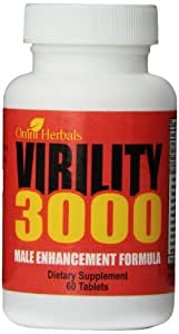 Virility 3000 - Male Enhancement Virility Pill For Men - All-Natural