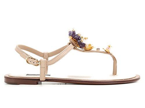 Skinn Dolce Gabbana Sandaler Cq0073ad33080703 E Kvinners Beige vXPwv