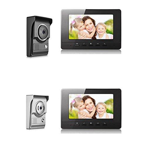 Blesiya 7inch LCD Camera Video Doorbell Intercom Monitor Safety US Standard - Black by Blesiya (Image #7)