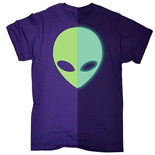 123t Men's Glow In The Dark ... Alien Design T-SHIRT