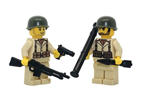 Modern Brick Warfare US Army American WW2 Soldiers Team 2 Custom -