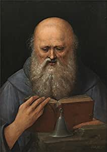 'Anonymous Saint Anthony the Abbot Meditating Ca. 1510 ' oil painting, 16 x 23 inch / 41 x 57 cm ,printed on polyster Canvas ,this Cheap but High quality Art Decorative Art Decorative Prints on Canvas is perfectly suitalbe for Living Room gallery art and Home gallery art and Gifts