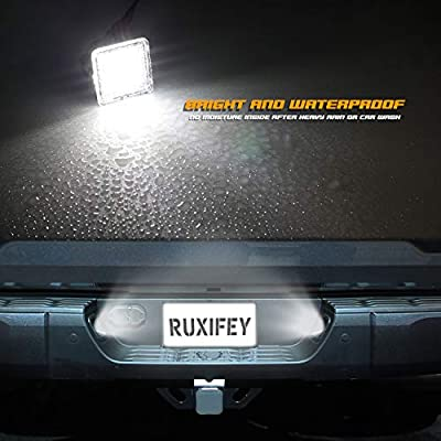 RUXIFEY LED License Plate Light Lamp Compatible with Toyota Tundra 2014 to 2020, Tacoma 2016 to 2020, 6500K White, Pack of 2: Automotive