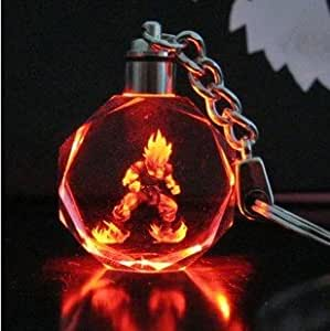 Dragonball z son Goku The crystal light key chain pendant LED