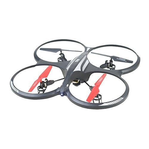 X DRONE GSHOCK 2.4GHz 4ch Radio Control ufo with gyro & camera (Big) Black+Red - CAMERA DRONE by TOYLAB