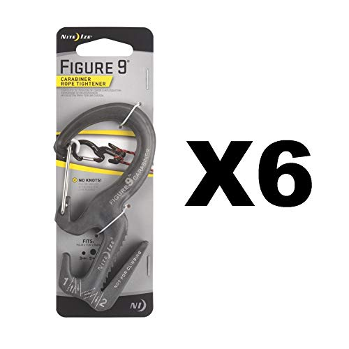 - Nite Ize Figure 9 Carabiner Large Rope Tightener Aluminum Tie w/Biner (6-Pack)