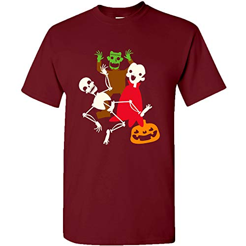 UGP Campus Apparel Monster Mash - Halloween Dance Party Skeleton Vampire Monster T Shirt - X-Large - Garnet]()