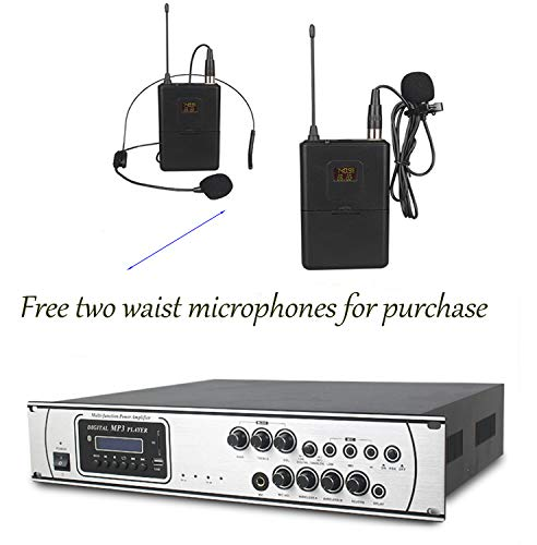 Processing Digital Equalizer (JAKROO Bluetooth Microphone Amplifier/Player/Equalizer, Digital Wireless Karaoke and LCD Monitor, Professional Concert Set for Home, Church use, with Two Microphones)