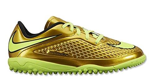 Nike Jr Hypervenom Phelon Njr Tf Scarpe Mtlc Gld Cn / Blk-tr Yllw-lcky G Ormtlq / Noir-jacom-verirl