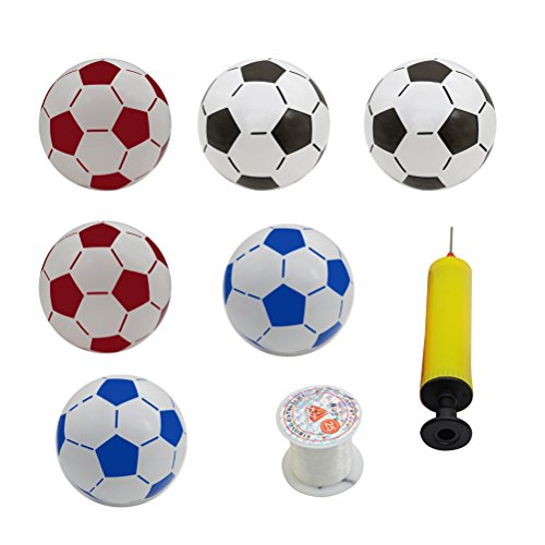 LUOEM Inflatable Soccer Balls Soccer Beach Ball Kids Football Toys Party Decorations for Pool Party Beach Party (Random Color Inflator) by LUOEM