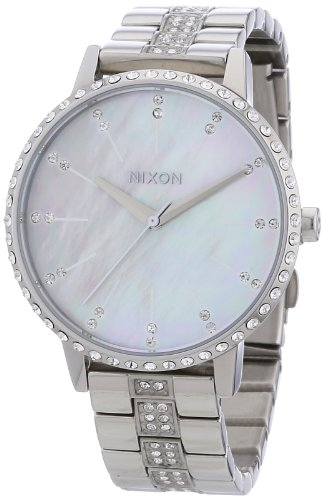Nixon A099710 Kensington Crystal Mop Dial Silver Steel Bracelet Women Watch (Kensington Crystals)