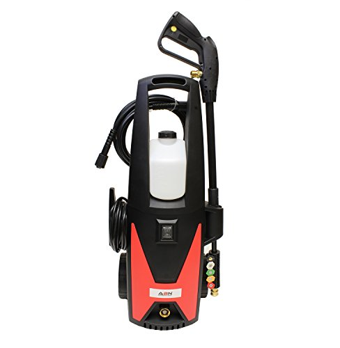 ABN Electric Pressure Washer with Hose, Spray Gun, Wand, Soap Dispenser, Adjustable High or Low Water Pressures by ABN
