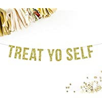 Treat Yo Self Party Banner | candy sweets s'mores bar table sign