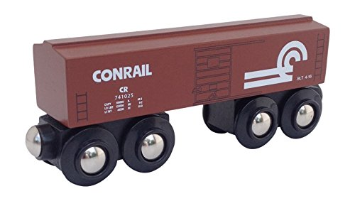 Conrail Boxcar magnetic wooden train