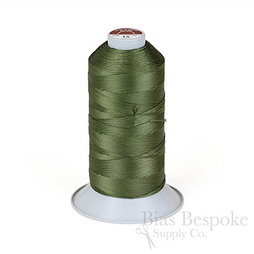MARS 15 Super Strong Top-Stitch Thread for Leather and Heavy-Weight Materials, Cypress Green