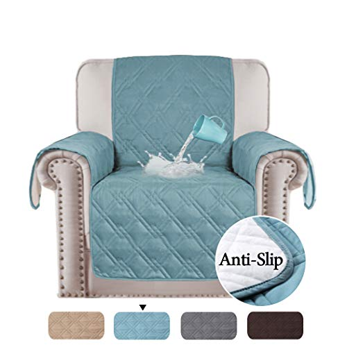 H.VERSAILTEX 100% Waterproof Recliner Chair Covers for Leather Anti Slip Furniture Protector, Stay in Place Protect from Dogs/Cats, Spills, Wear and Tear (79
