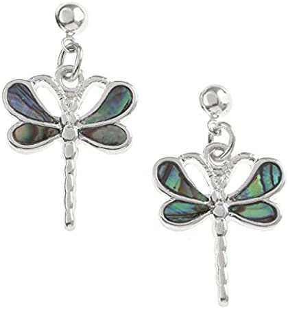 Tide Jewellery Inlaid Paua Shell /& Diamante Dragonfly Necklace Pendant