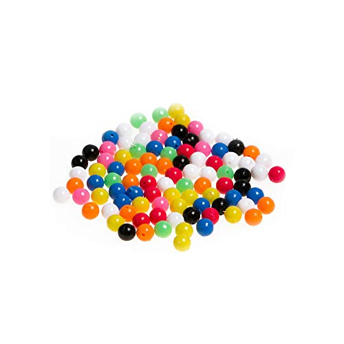Molyveva Fishing Supplies - Color Fishing Beads 100 Grain Road Sub Round Beads Plastic Beads