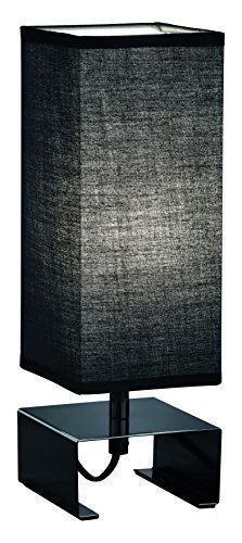 Reality Leuchten Tischleuchte, 1 x E14 max, 40 W, 10 x 10 x 30 cm, schwarz / schirm stoff schwarz R50181002