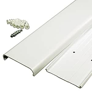 Legrand - Wiremold CMK30 30-Inch Flat Screen TV Cord Cover Kit- Wall Mount TV Cable Concealer Cord Cover Raceway Kit to Hide Cables, Cords, or Wires- White
