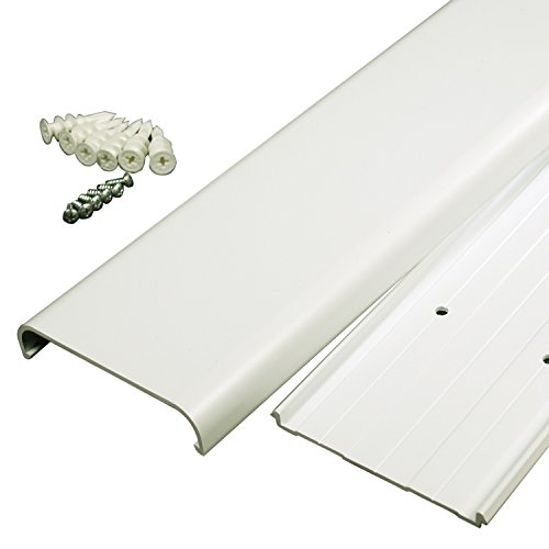 Legrand - Wiremold CMK30 30-Inch Flat Screen TV Cord Cover Kit- Wall Mount TV Cable Concealer Cord Cover Raceway Kit to Hide Cables, Cords, or Wires- White by Wiremold