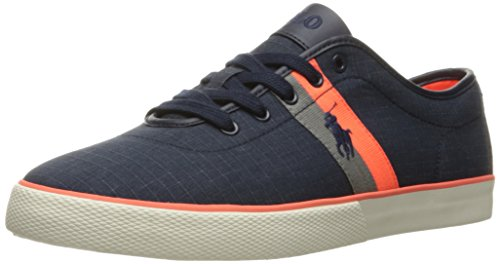 Polo Ralph Lauren Men's Halford Ripstop Fashion Sneaker, Navy, 11 D US