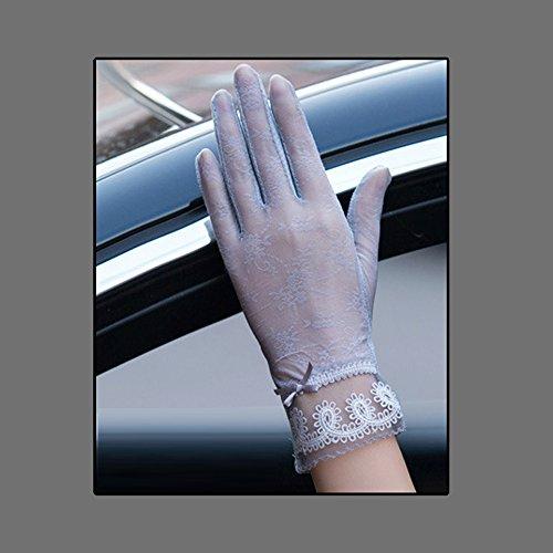 Coio 女性手袋 レディースUVカット レース 薄手日焼け防止 紫外線カット ブライダル手袋(スタイル8))