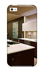 New Fashion Premium Tpu Case Cover For Iphone 5c - Modern Kitchen With White Cabinets And Countertops 2557356K37762317