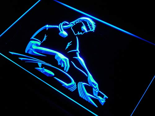ADVPRO Cartel Luminoso j287-b DJ Disc Jockey Beer Band Bar Neon Light Sign