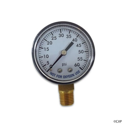 ALF 82060BU 2-Inch Steel Pressure Gauge with 0-60 PSI and...