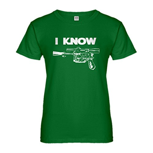 Indica Plateau Womens I Know Large Kelly Green T-Shirt