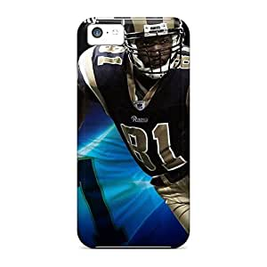 Rosesea Custom Personalized Iphone 5c Cases, Premium Protective Cases With Awesome Look - St. Louis Rams wangjiang maoyi
